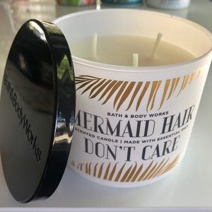BBW Mermaid Hair Don't Care 3 Wick Candle NEW RARE